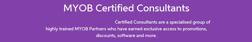 MYOB Certified Consultants